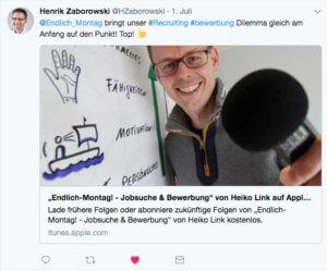 Henrik Zaborowski Tweet