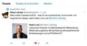 Tweet Klaus-Peter Jansen